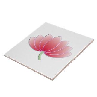 Floral retro femenino lindo rosado fino de la flor azulejo cuadrado grande