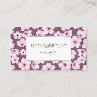 Floral retro romantic vintage pattern business card