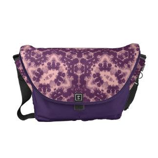 Floral Retro Vintage Purple Tones Messenger Bag