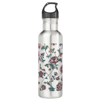 Floral Retro Vintage Style Water Bottle