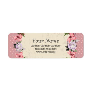 floral  return address stickers