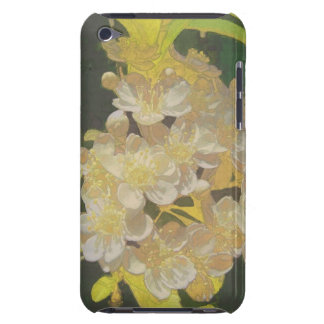 Floral Rhapsody In Gold and White Barely There iPod Cases