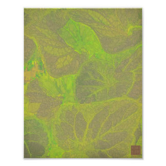 Floral Rhapsody in Green and Brown Art Photo