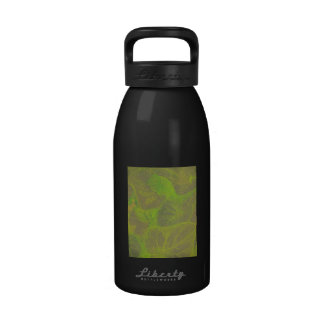 Floral Rhapsody In Green and Brown Drinking Bottle
