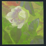 "Floral Rhapsody in Green Cloth Napkin<br><div class=""desc"">Abstract flower art has been fashionable to millions over the years. Monet and Van Gogh over a century ago, the flower power images emblazoned on hippie buses in the 60s and chic florals created using digital technology today are but three examples of the human spirit influenced by nature and flowers....</div>"