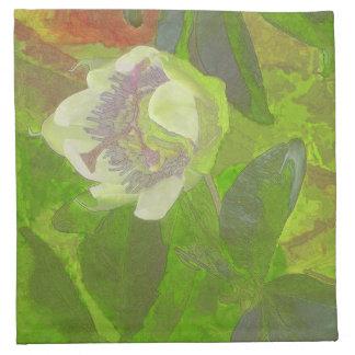 Floral Rhapsody in Green Cloth Napkin