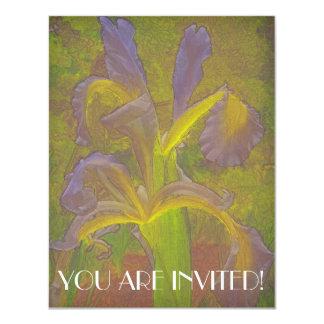 Floral Rhapsody in Lavender 4.25x5.5 Paper Invitation Card