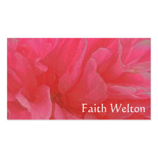 Floral Rhapsody in Magenta and Red Business Card Templates