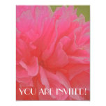 """Floral Rhapsody in Magenta and Red 4.25"""" X 5.5"""" Invitation Card"""