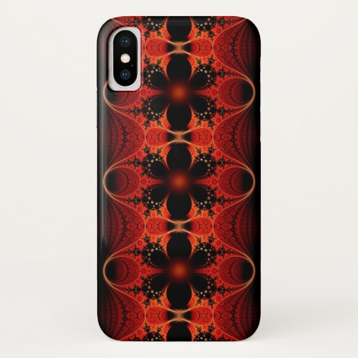 Floral Ribbon Abstract Fractal Art iPhone XS Case