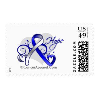 Floral Ribbon Hope - ALS Disease Postage Stamp