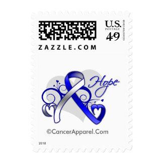 Floral Ribbon Hope - ALS Disease Stamp