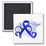 Floral Ribbon Hope -  Ankylosing Spondylitis Fridge Magnet