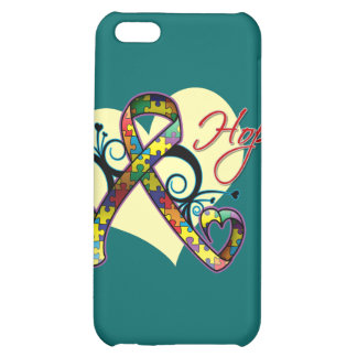 Floral Ribbon Hope - Autism iPhone 5C Cover