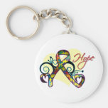 Floral Ribbon Hope - Autism Keychains