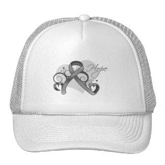 Floral Ribbon Hope - Brain Tumor Hat