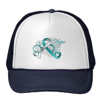 Floral Ribbon Hope - Cervical Cancer Mesh Hats