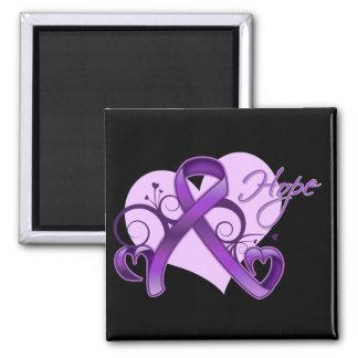 Floral Ribbon Hope - Epilepsy Awareness Magnet