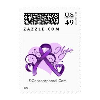 Floral Ribbon Hope - Epilepsy Awareness Postage