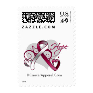 Floral Ribbon Hope - Head and Neck Cancer Postage