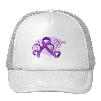 Floral Ribbon Hope - Leiomyosarcoma Hat