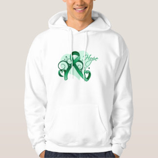 Floral Ribbon Hope - Liver Disease Hooded Pullovers