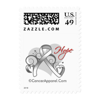 Floral Ribbon Hope - Lung Cancer Postage