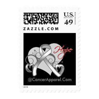 Floral Ribbon Hope - Lung Cancer Stamp
