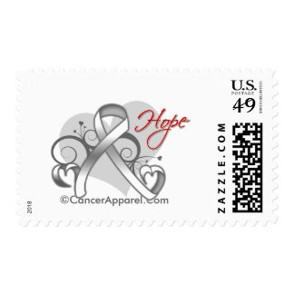 Floral Ribbon Hope - Lung Cancer Stamps