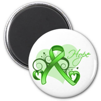 Floral Ribbon Hope - Lyme Disease 2 Inch Round Magnet