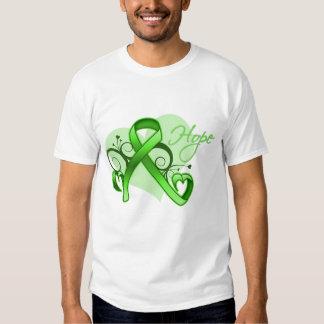 Floral Ribbon Hope - Lyme Disease Tshirts