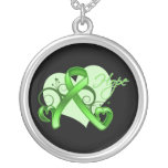Floral Ribbon Hope - Lymphoma Personalized Necklace