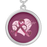 Floral Ribbon Hope - Multiple Myeloma Necklace