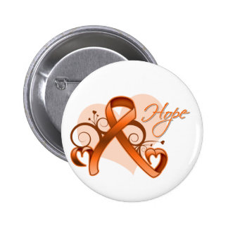 Floral Ribbon Hope - Multiple Sclerosis Pin
