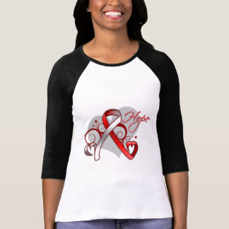 Floral Ribbon Hope - Myelodysplastic Syndromes T-shirts