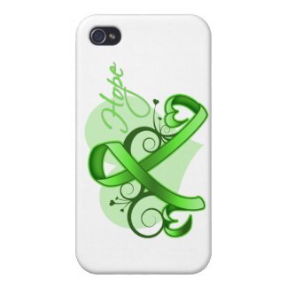 Floral Ribbon Hope - Non-Hodgkins Lymphoma iPhone 4 Cover