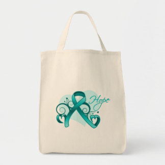 Floral Ribbon Hope - PCOS Canvas Bags