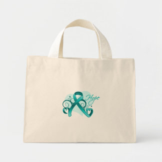 Floral Ribbon Hope - Polycystic Kidney Disease Canvas Bags