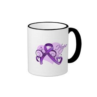 Floral Ribbon Hope - Sarcoidosis Coffee Mugs