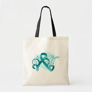 Floral Ribbon Hope - Scleroderma Tote Bag