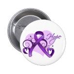 Floral Ribbon Hope -  Sjogren's Syndrome Button