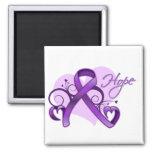 Floral Ribbon Hope -  Sjogren's Syndrome Magnet