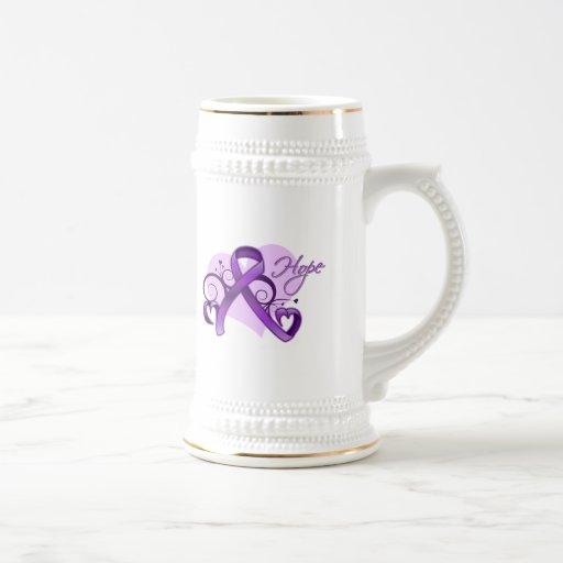 Floral Ribbon Hope -  Sjogren's Syndrome Coffee Mugs