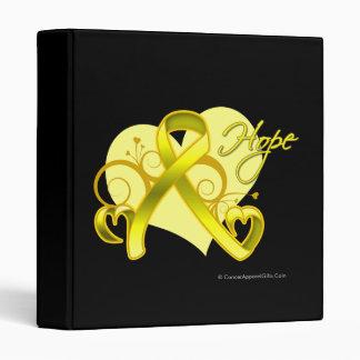 Floral Ribbon Hope - Testicular Cancer 3 Ring Binder