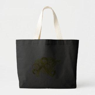 Floral Ribbon Hope - Testicular Cancer Canvas Bag