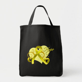 Floral Ribbon Hope - Testicular Cancer Canvas Bags
