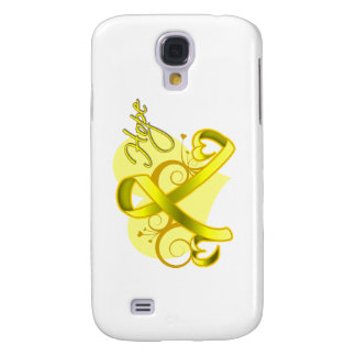 Floral Ribbon Hope - Testicular Cancer Samsung Galaxy S4 Cover