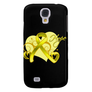 Floral Ribbon Hope - Testicular Cancer Samsung Galaxy S4 Cases