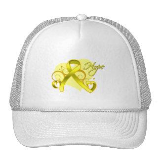 Floral Ribbon Hope - Testicular Cancer Mesh Hat