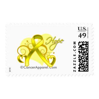 Floral Ribbon Hope - Testicular Cancer Stamps